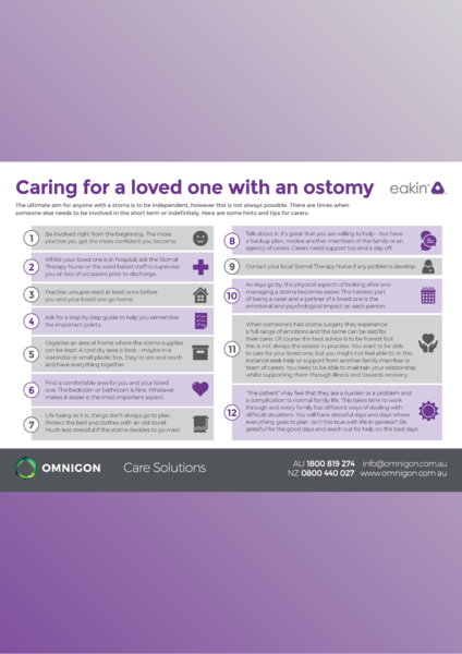 Caring for a loved one with an ostomy